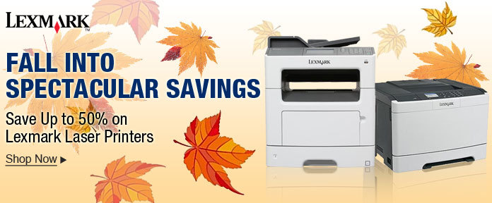 Save Up to 50% On Lexmark Laser Printers