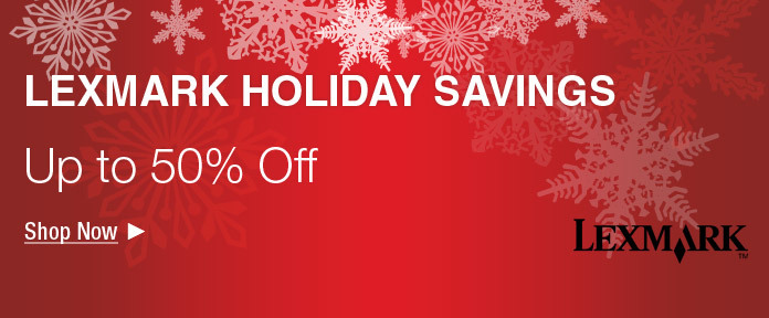 Up to 50% Off Lexmark