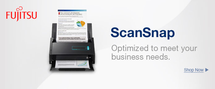 Scan Snap Optimized to meet your business needs