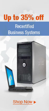 Up to 35% off recertified business systems