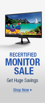 Recertified monitor sale