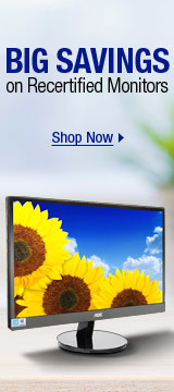 Big Savings on Recertified Monitors