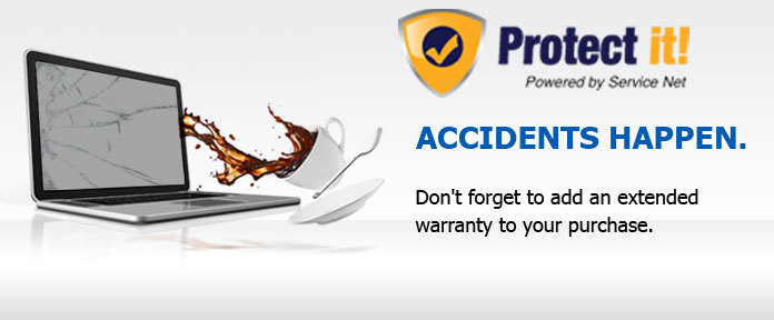 Don't forget to add an extended warranty to your purchase