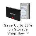 Up to 30% on Storage