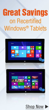 Great Savings on Recertified Windows Tablets