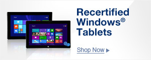 Great Savings on Recertified Windows Tablets