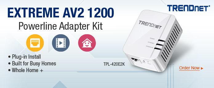 EXTREME AV2 1200 Powerline Adapter Kit