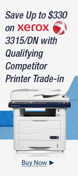Save Up to $330 on Xerox 3315/DN with Qualifying Competitor Printer Trade-in