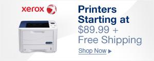 Printers starting at $89.99 + free shipping
