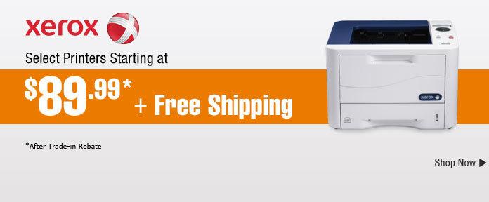 Xerox Printer Starting at $89.99 + Free Shipping