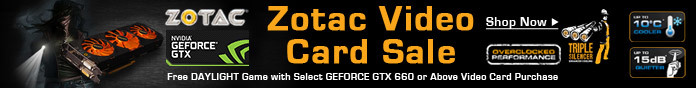 Zotac Video Card Sale